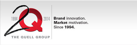 The Quell Group. Brand innovation, Market motivation. Since 1994.